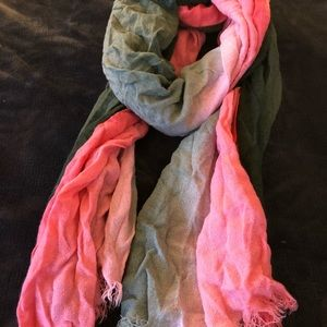 Pink and gray ombré fade scarf